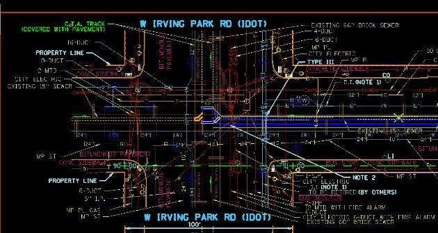 Sewer Design Services-Old Irving Park Neighborhoods